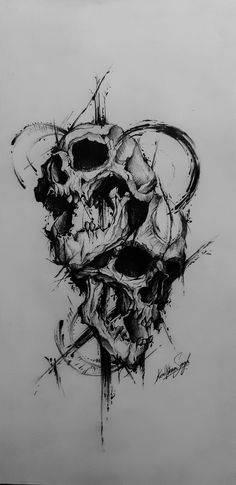 Tribal Skull Tattoos for Men Badass Tattoos, Head Tattoos, Skull Tattoos, Arm Tattoos For Guys, Body Art Tattoos, Tribal Tattoos, Sleeve Tattoos, Evil Skull Tattoo, Tribal Tattoo Designs