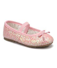 Pink Glitter Ballet Flat