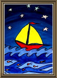 Original Acrylic $25.!!! #Boat #Sea #KidsPainting #Acrylic Coppy link and say hello, checkbout my other paintings, too!!!  https://m.facebook.com/story.php?story_fbid=156021174767447&id=100010786952597&ref=m_notif&notif_t=like
