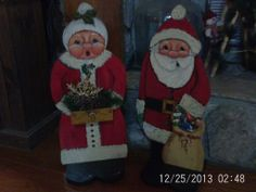 OLD WORLD CHRISTMAS MR & MR CLAUS[toll painting]-making for a old fashioned christmas!