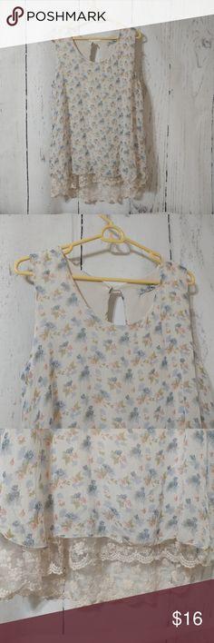 1819bd3e01c1b Elena Baldi Silk Swing Top W  Lace Trimmed Lining