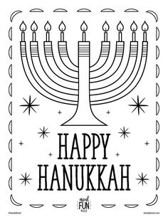 hannukah printable coloring page