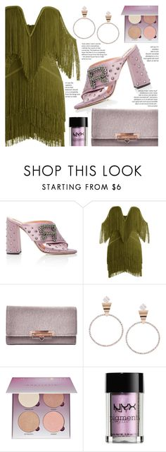 """Fringe"" by fattie-zara ❤ liked on Polyvore featuring Rochas, Anastasia Beverly Hills and NYX"