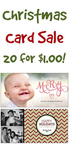 Photo Christmas Card Sale: 20 for $1.00!  {+ s/h} Ordered two sets tonight! had to use two separate accounts but worth it and I picked two different cards.