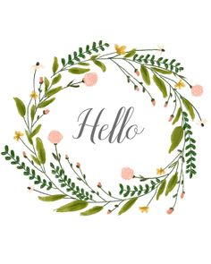Pretty Pics Thursday 7 : Free Wreath Printable is a beautiful summerly flower wreath and ready to download for free here.