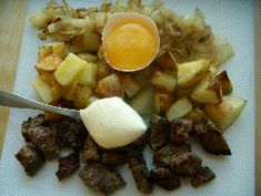 Biff or beef Rydberg, classic Swedish dish with diced potatoes, onion and beef. Similar to pyttipanna, but more luxurious.
