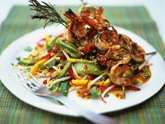 Lenggang Mak Minah: Jamie Oliver's: Thai-Style Mango Salad with Griddled Prawn