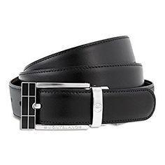 Mont Blanc 'Contemporary Line' Men's Belt - 101899 at Amazon Men's Clothing store: Apparel Belts