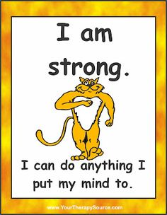 I am strong!