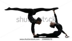Image result for gymnastic poses two people