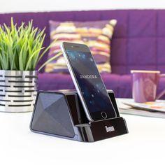 Satechi iFit-2 ポータブル再充電式スピーカースタンド (スマートフォン & タブレット用)