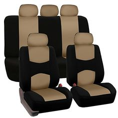 FH GROUP FH-FB050115 Full Set Flat Cloth Car Seat Covers Beige Color- Fit Most Car, Truck, Suv, or Van  Includes 2 front bucket, 1 set rear bench and 5 headrest covers  Universal application fits almost all seats ( Cars, Trucks, Vans, & SUV )  Materials are Made from Flat Cloth, Machine Washable. Air dry  Helps Protect a Nice Seat or Disguise an Old One  Your satisfaction is our utmost goal; every product and service we offer at FH Group is to make your life easier and more enjoyable. ...