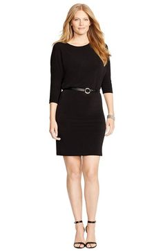 Soprano Trendy Plus Size Faux Wrap Velvet Dress