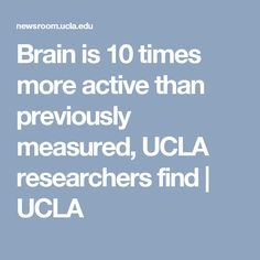 Brain is 10 times more active than previously measured, UCLA researchers find | UCLA