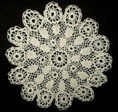 Vintage Irish Crochet Lace Doily - Antique Vintage Table Linens - The Gatherings Antique Vintage