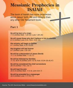 Learn more about the Messianic prophesies found in the book of Isaiah of the Bible. Includes the key topics for Bible Study. Bible Study Notebook, Bible Study Tools, Scripture Study, Isaiah Bible Study, Bible Teachings, Bible Scriptures, Jesus Bible, Bible Notes, Holy Mary