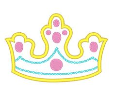Designs :: Girls :: Crown Applique