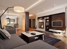 Projekt domu Korso 2 175,94 m² - koszt budowy - EXTRADOM Modern Family House, Modern House Design, Style At Home, Flat Roof House Designs, 2 Storey House Design, Beautiful House Plans, House Entrance, Design Case, House Rooms