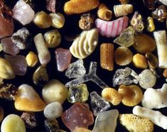 This is what SAND looks like when it's magnified upto 300 times : interestingasfuck