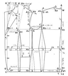 Cutter and tailor measured and drafting of several basic garments. Rundschau for Ladies Coats. Shows also how to measure. Very good post! Coat Patterns, Clothing Patterns, Dress Patterns, Sewing Patterns, Suit Pattern, Jacket Pattern, Tailoring Techniques, Sewing Techniques, Pattern Cutting