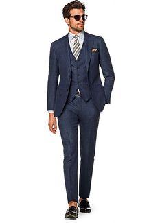 Costume Bleu Carreau Lazio P5163   Suitsupply Online Store