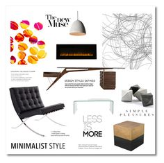 """""""Minimalist style"""" by magnolialily-prints on Polyvore featuring interior, interiors, interior design, home, home decor, interior decorating, Design Within Reach, ELK Lighting, Safavieh and Blume"""