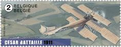 Stamp: César Battaille (1911) (Belgium) (Old Belgian Airplanes) Mi:BE 4637,Yt:BE 4562,Bel:BE 4591