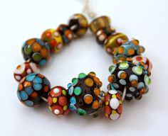 Handmade Artisan Lampwork Glass Bead And Polymer by blancheandguy