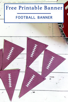 Download this fun and simple printable football banner from Everyday Party Magazine and have the perfect football party decor! #Football #SuperBowl #FreePrintable