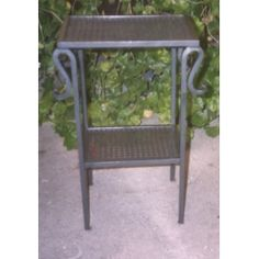 Bedside Table Wrought Iron. Customize Realizations. 882