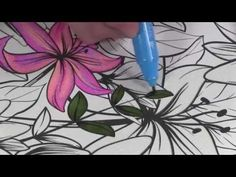 2016  Lesson 4  -   4 Ways to Blend with Alcohol Markers- Advanced Adult Coloring Course -
