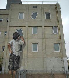 l'artiste des rues recadre la société... / Street art.