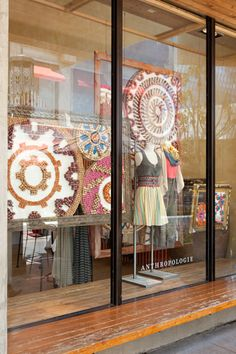 Cork window display by Jessica Pezalla  - looks like the artwork is made from corks.