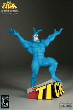 Statue of The Tick Best Cartoons Ever, Cool Cartoons, Toy Corner, Sculpture Painting, Hooray For Hollywood, Poster Pictures, Vinyl Toys, Art Model, Character Illustration