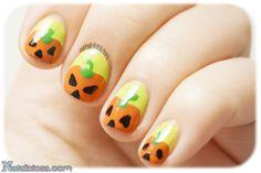 Pumpkin manicure - Manicura de calabazas - w/ c/ tutorial !
