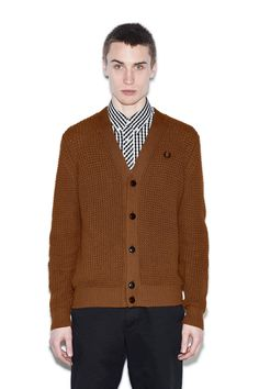 Fred Perry - Reissues Chunky Pineapple Stitch Cardigan Caramel
