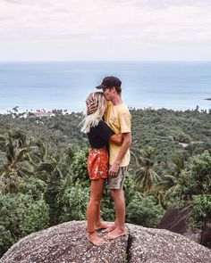Viewpoint Near Overlap Stone Viewpoint Koh Samui Viewpoint Thailand South East Asia Wanderers & Warriors Charlie & Lauren UK Travel Couple Hiking Climbing Together Always Couple Goals I love you Hug Cuddle Lonely kohsamuibigbuddha Relationship Goals Pictures, Couple Relationship, Cute Relationships, Hiking Photography, Couple Photography, Photography Ideas, Cute Couple Pictures, Couple Photos, Couple Ideas