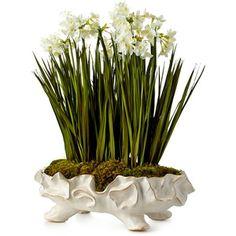 John-Richard Collection Paperwhite Garden Faux-Floral Arrangement