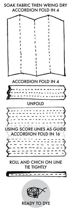 Tied Shibori Stripe Instructions