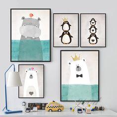 Aliexpress.com: Comprar Animales de dibujos animados Art cartel de la pintura, cuadro de la pared para la decoración del hogar, decoración de la pared FA400 de imágenes de libros escolares fiable proveedores en 900D