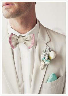 pastel and ombre groom's fashion