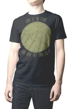 609357355 Men T-shirt Look at the Stars Look how they Shine for you. Music tshirt  Song Lyrics Coldplay