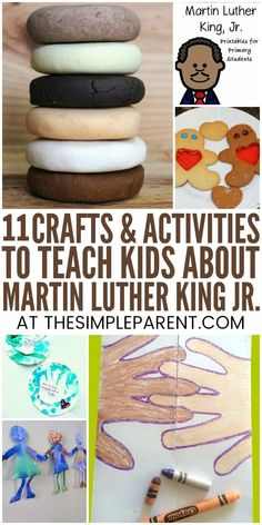 Martin Luther King Jr Activities for #Kindergarten & #Preschool - Teach your kids about this important historical figure with these activities, crafts, and projects. From #IHaveaDream art to a FREE printable, you can celebrate Martin Luther King Jr. Day with your kids while they learn! These are great starters #fortoddlers, as well. Enjoy this free resource #forkids!