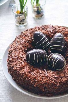 Fuglerede chokoladekage fra Bageglad