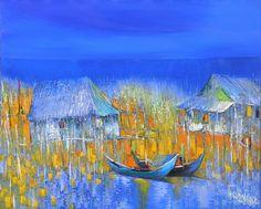 Dao Hai Phong - Fishing Village  | Oil on Canvas |  (65cm x 80cm) |  Inquiry