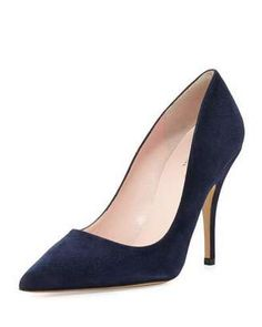 Shop Now - >  https://api.shopstyle.com/action/apiVisitRetailer?id=495980693&pid=2254&pid=uid6996-25233114-59 Kate Spade New York Licorice Suede Pointed-Toe Pump, Navy  ...