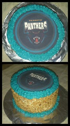Penrith Panthers cake Penrith Panthers, Rugby League, Birthday Cake, Party Ideas, Cakes, Sport, Desserts, Food, Tailgate Desserts