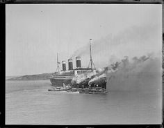SS Leviathan leaving Boston
