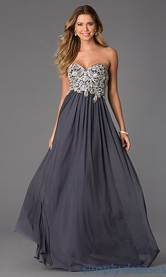 Floor Length Strapless Sweetheart JVN by Jovani Dress at SimplyDresses.com