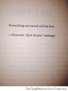 will not be saved